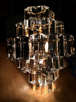 Aplique vintage cristal Murano Venini