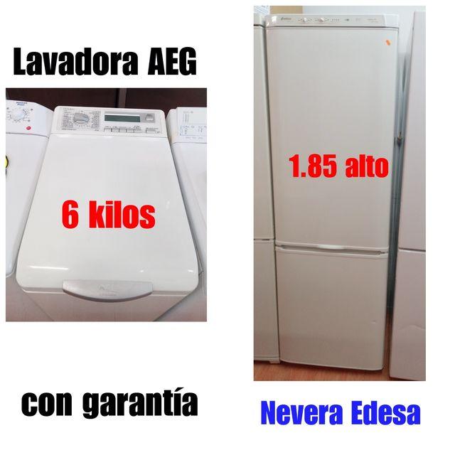 Lavadora AEG+Nevera Edesa con garantía