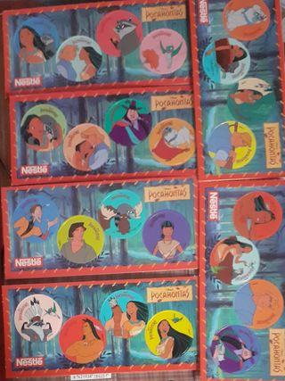 Postales tazos Pocahontas