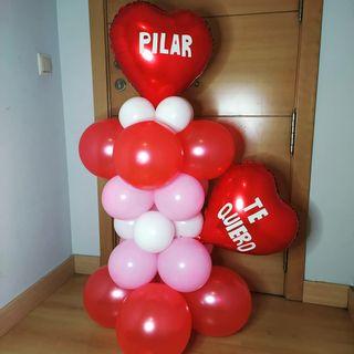 columna globos decoracion
