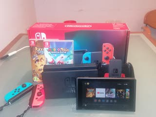 Nintendo Switch Neón+Rayman Legends y RabbidsMario
