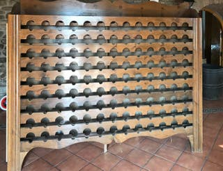 Botellero de madera maciza