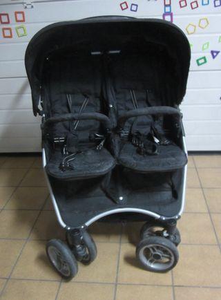 Coche doble de paseo bebe