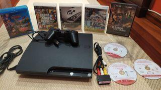 Ps3 Slim 320gb+juegos