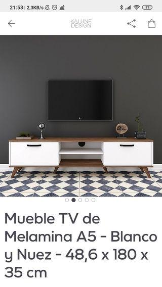 mueble blanco de tv