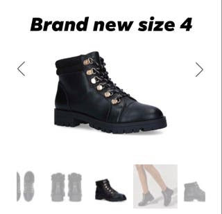 Brand new carvela lace up / bike boots