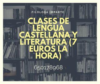 Clases de lengua castellana y literatura (7 euros)