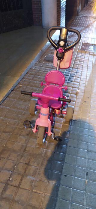 Triciclo feber niña con cesta