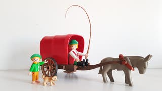 Playmobil Carro con burro medieval / Belén