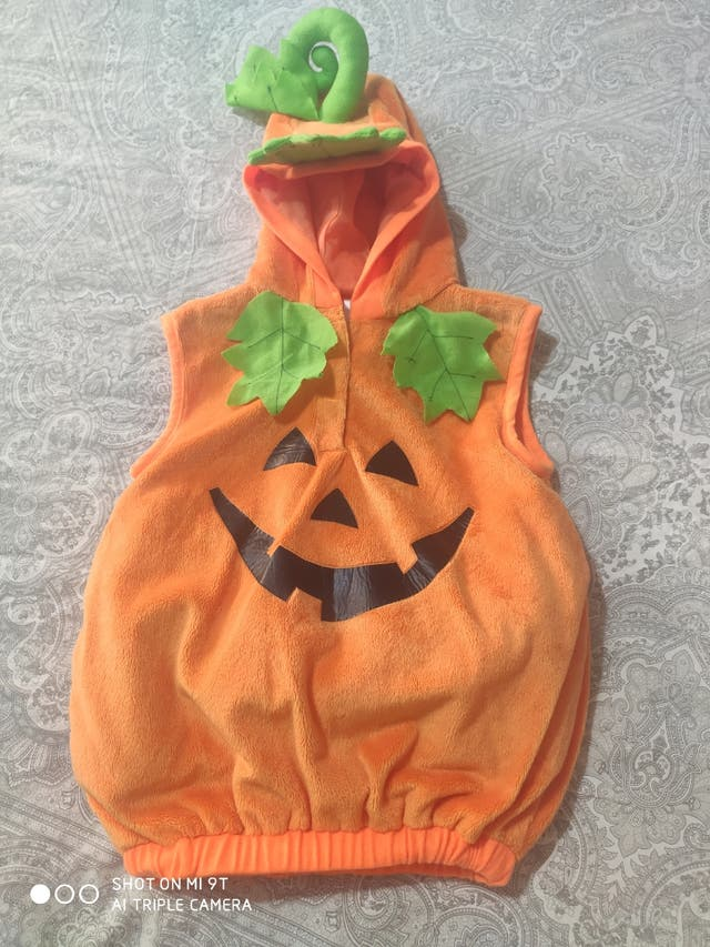 disfraz calabaza Halloween bebe