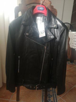 biker piel zara
