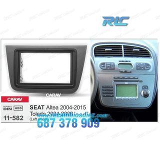 MARCO ADAPTADOR GRIS RADIO 2-DIN SEAT ALTEA TOLEDO