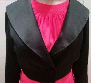 Jaqueta de raso de seda