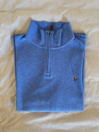 Jersey cremallera Ralph Lauren azul