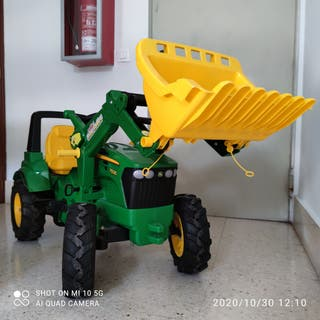 tractor y pala excavadora John Deere