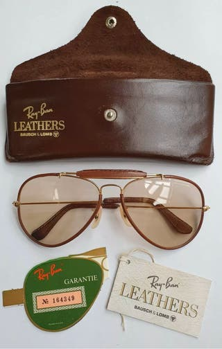 Vintage American Ray Ban Leather Sunglasses