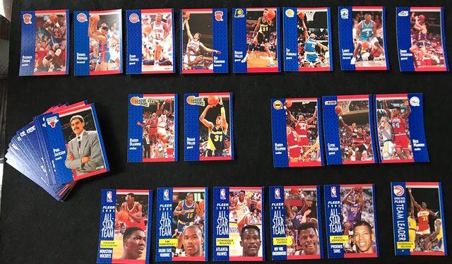 LOTE NBA 59 CROMOS - FLEER 91-92