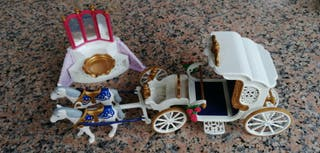 Set Playmobil Carroza y fuente princesas novios