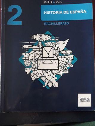 Libro de Historia de España 2°Bachillerato Oxford