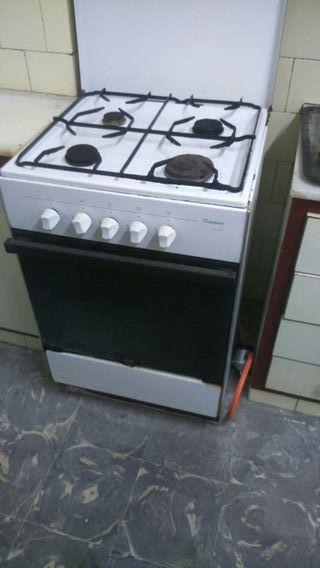 cocina de fuego a gas