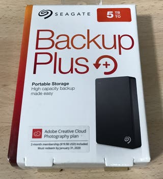Disco duro portatil Seagate Backup Plus 5TB