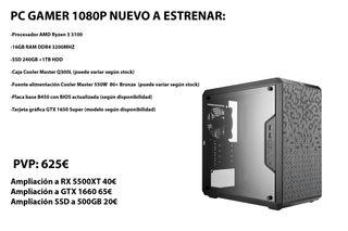 PC Gaming Ryzen 3 3100 GTX 1650 Super