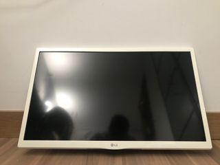 TV LG blanca de 25 pulgadas