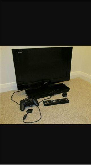 Televisión Sony bravía con ps2 incorporada