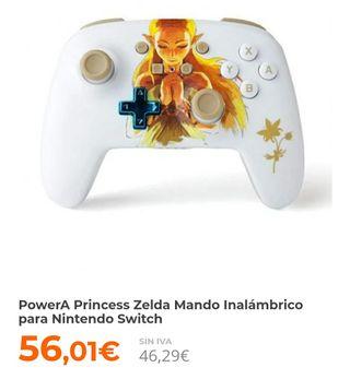 PowerA Princess Zelda Mando Inalámbrico para Ninte