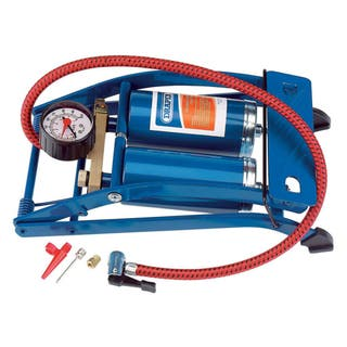 Draper Tools Bomba de pie de doble cilindro azul 2