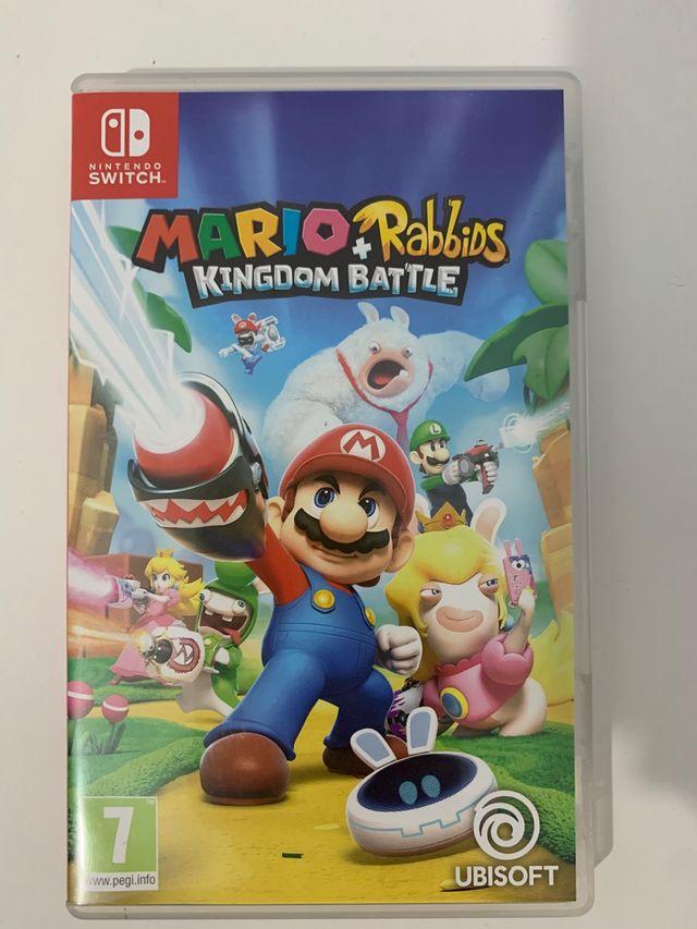 Juego nintendo switch mario+rabbids kingdom battle