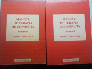 MANUAL DE TERAPIA DE CONDUCTA 2 TOMOS