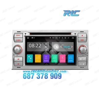 "RADIO GPS ANDROID 7.1 7"" FORD CUADRADA PLATA USB G"