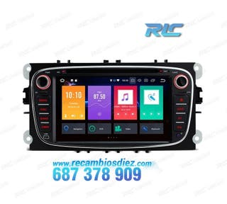 "RADIO GPS ANDROID 8.0 OREO 7"" FORD REDONDA NEGRO U"