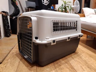 Dog crate (pet travel crate) - M: 68x51x47cm (New)