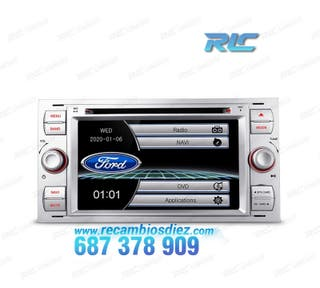 "RADIO GPS 7"" FORD CUADRADA PLATA USB GPS TACTIL HD"