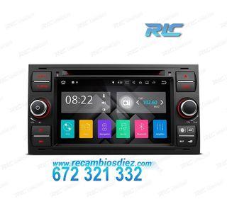 "RADIO GPS ANDROID 7.1 7"" FORD CUADRADA NEGRO USB G"