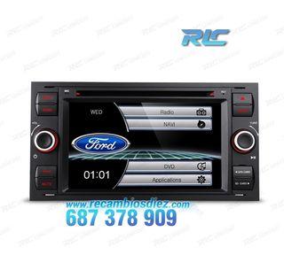"RADIO GPS 7"" FORD CUADRADA NEGRO USB GPS TACTIL HD"