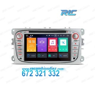 "RADIO GPS ANDROID 8.0 OREO 7"" FORD REDONDA PLATA U"