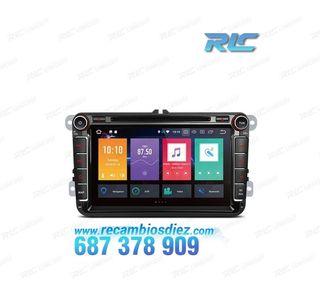 "RADIO DVD GPS ANDROID 8.0 TÁCTIL 8"" VW SEAT SKODA"