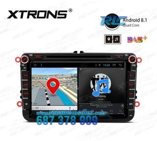 "RADIO PANTALLA TÁCTIL GPS 8"" Volkswagen / SEAT / S"