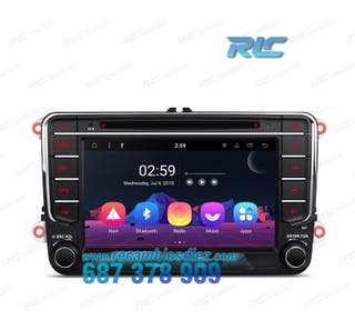 "RADIO DVD GPS ANDROID 8.1 SEAT VW SKODA TÁCTIL 7"""