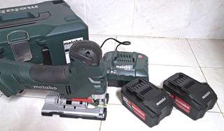 Sierra de calar Metabo 18 LTX 140 con baterias