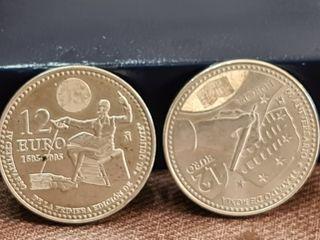 2 piezas de 12 euros de plata