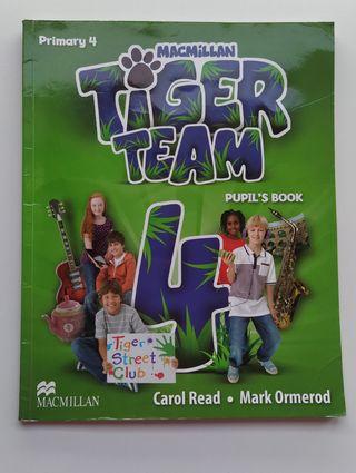 Libro inglés 4 de primaria Tiger Team