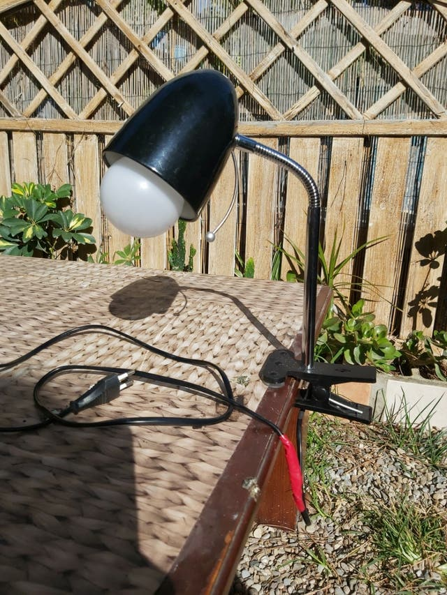 lampara con pinzas