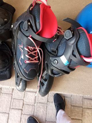 patines 32 a 35 de pie