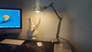 Lámpara mesa inox Ikea cromado
