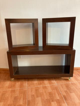 Mesa de tv con estantes