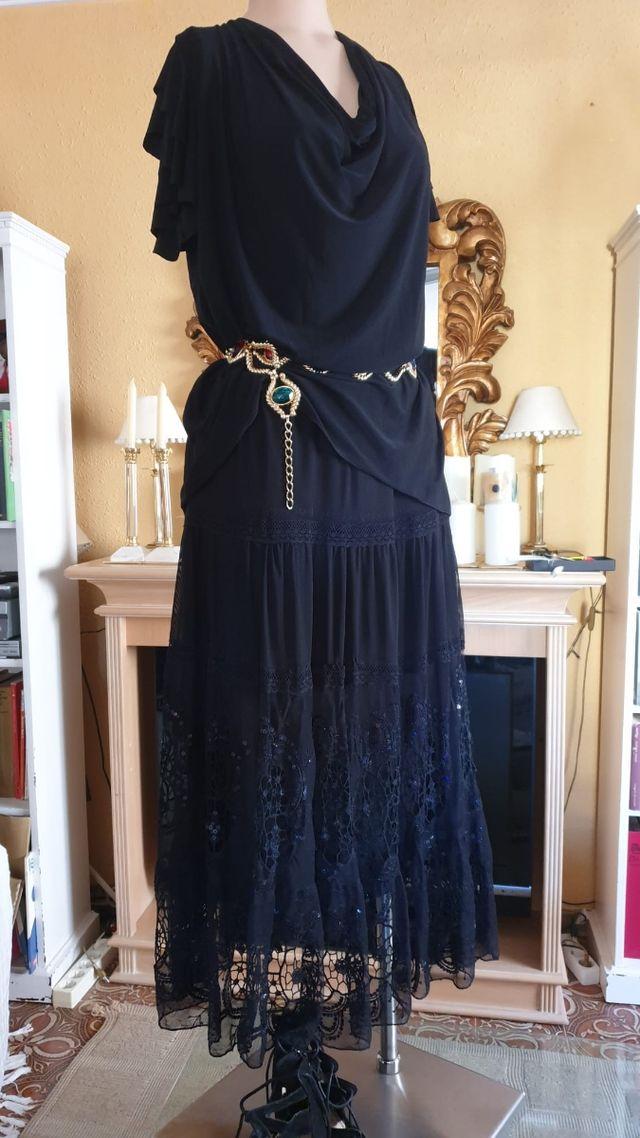 Falda y blusa para fiesta o cóctel, talla grande